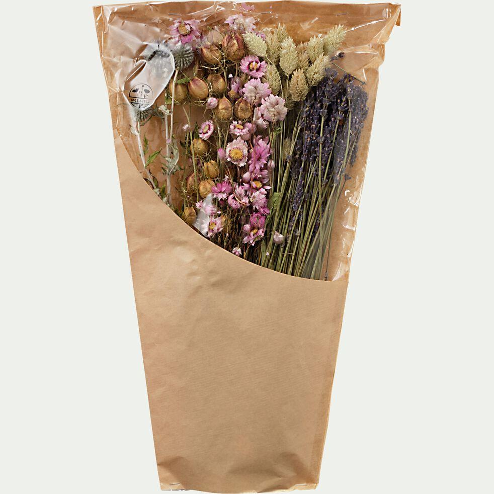 Bouquet de fleurs séchées colorées h45cm  - Naturel-PIADI