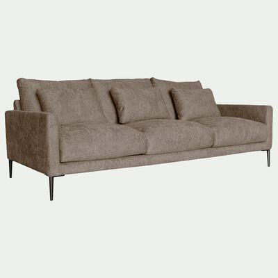Canapé 4 places fixe en tissu beige alpilles-SOZY