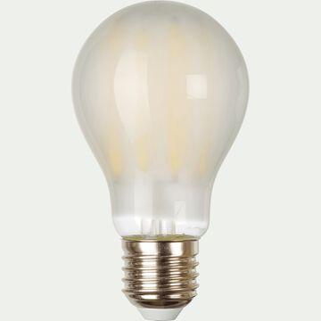 Ampoule LED verre dépoli D6,7cm blanc froid culot E27-STANDARD