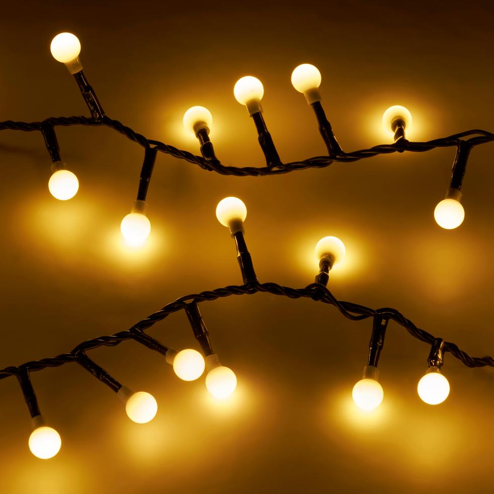 Guirlande lumineuse 11m - 500 LED blanc chaud-CERISE