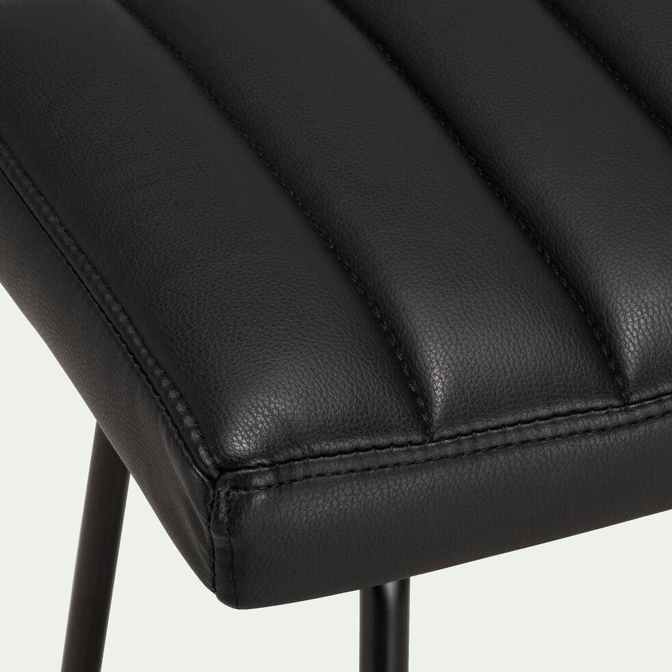 Tabouret de bar - noir H75cm-THEO