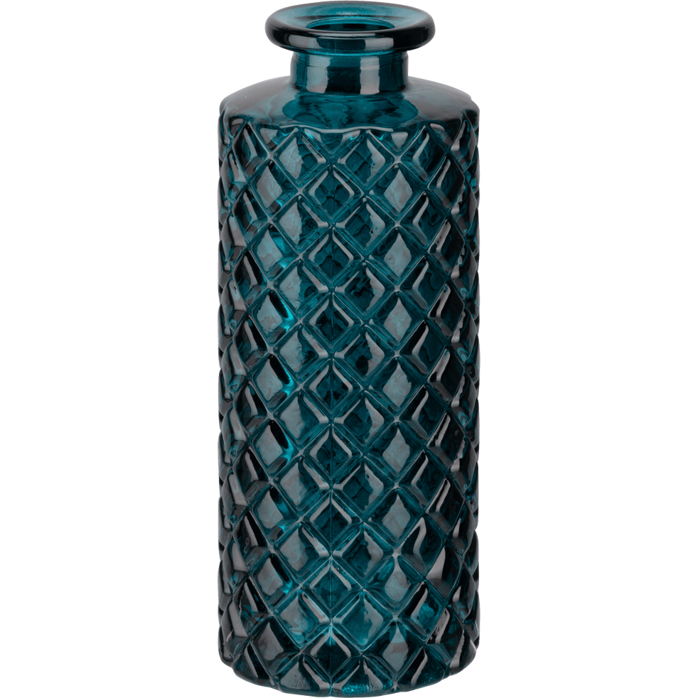 Vase en verre bleu niolon H13cm-Mochlos