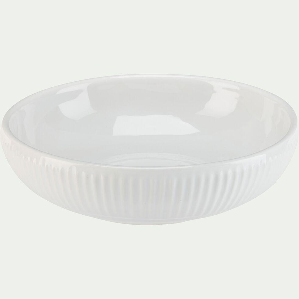 Assiette creuse en faïence D19cm - blanc-MORA