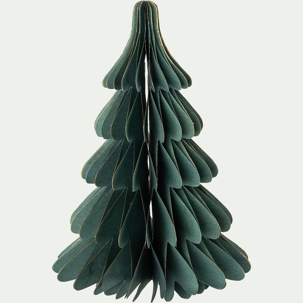 Sapin décoratif en papier - vert H30cm-ALPILLES