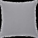 Coussin en coton gris restanque 40x40cm-CALANQUES