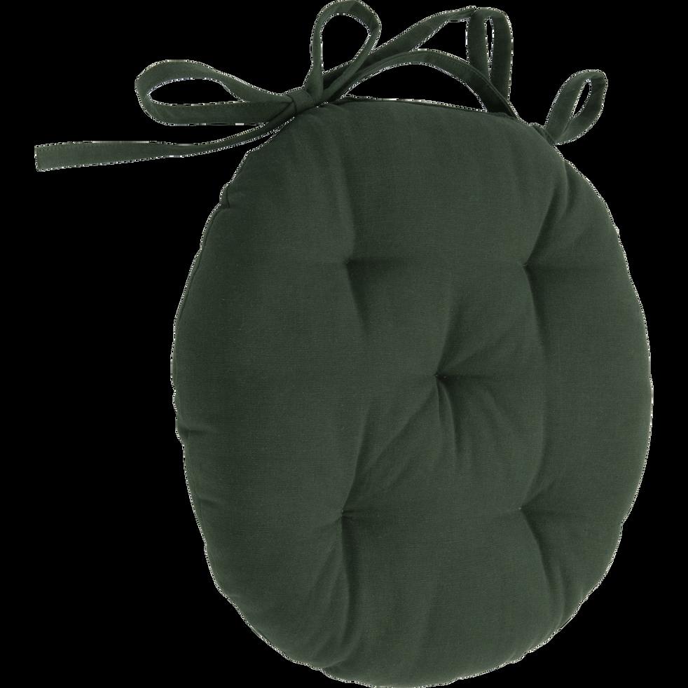 Galette de chaise ronde vert cèdre D40cm-CALANQUES