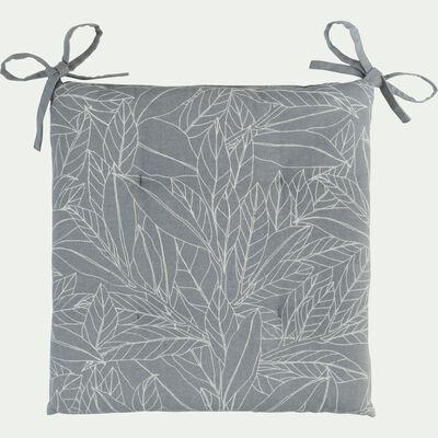 Galette de chaise de jardin en coton déperlant gris-MIKO