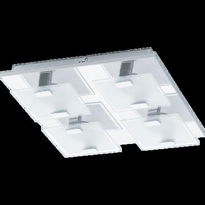 Plafonnier en acier chromé avec 4 lumières LED L27cm-VICARO
