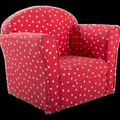 Fauteuil club rouge motif étoile pour enfant-CLUBBY