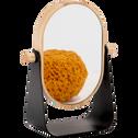 Miroir grossissant bois et métal-DAUMAS