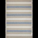 Tapis extérieur et intérieur bleu 160x230cm-ELEGANCE