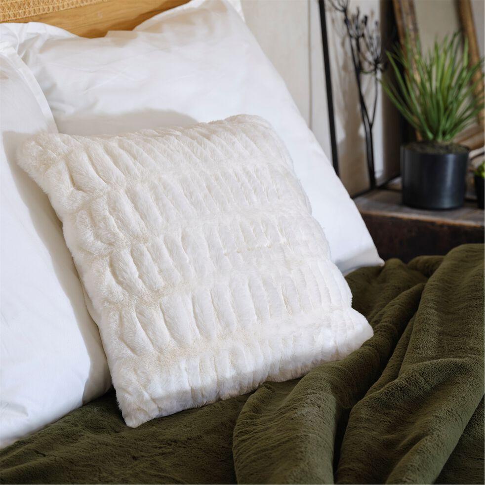 Coussin carré - 45x45cm blanc ventoux-CARINO