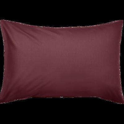 Taie d'oreiller en coton lavé rouge sumac 45x65 cm-CALANQUES