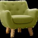 Fauteuil en tissu vert olive-POPPY