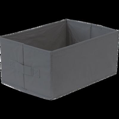 Panier de rangement gris 32x22x15 cm-IVY