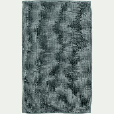 Tapis de bain chenille en polyester - bleu calaluna 50x80cm-Picus