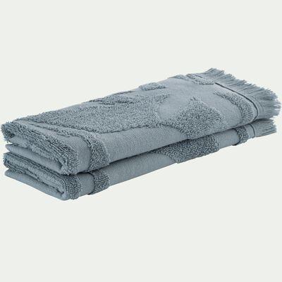 Lot de 2 serviettes invité en coton - bleu calaluna 30x50cm-Ryad