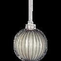 Boule en verre blanc D8-OPALINE