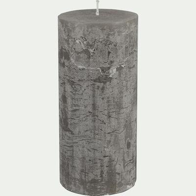 Bougie cylindrique - gris restanque H15cm-BEJAIA