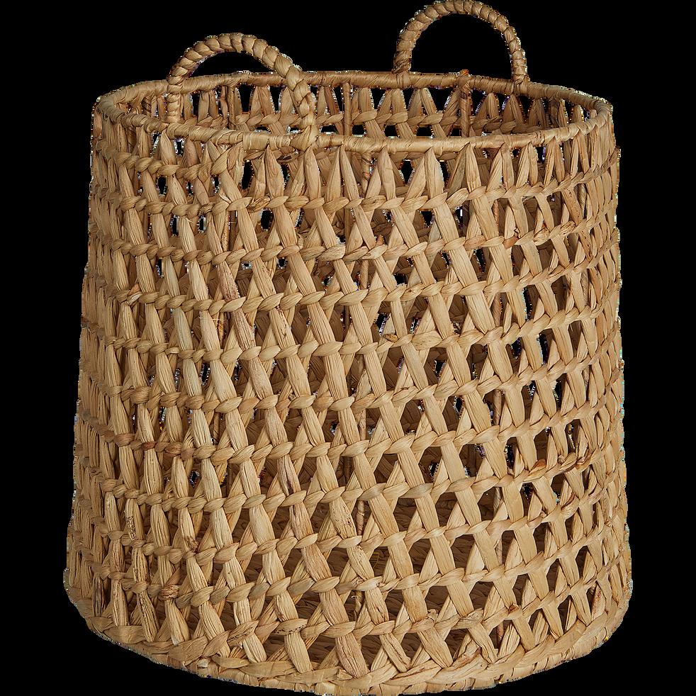 Panier en jacinthe d'eau D34xH30cm-NOAH