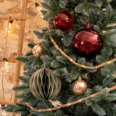 Boule de Noël en verre rouge sumac D12cm-BATRONE