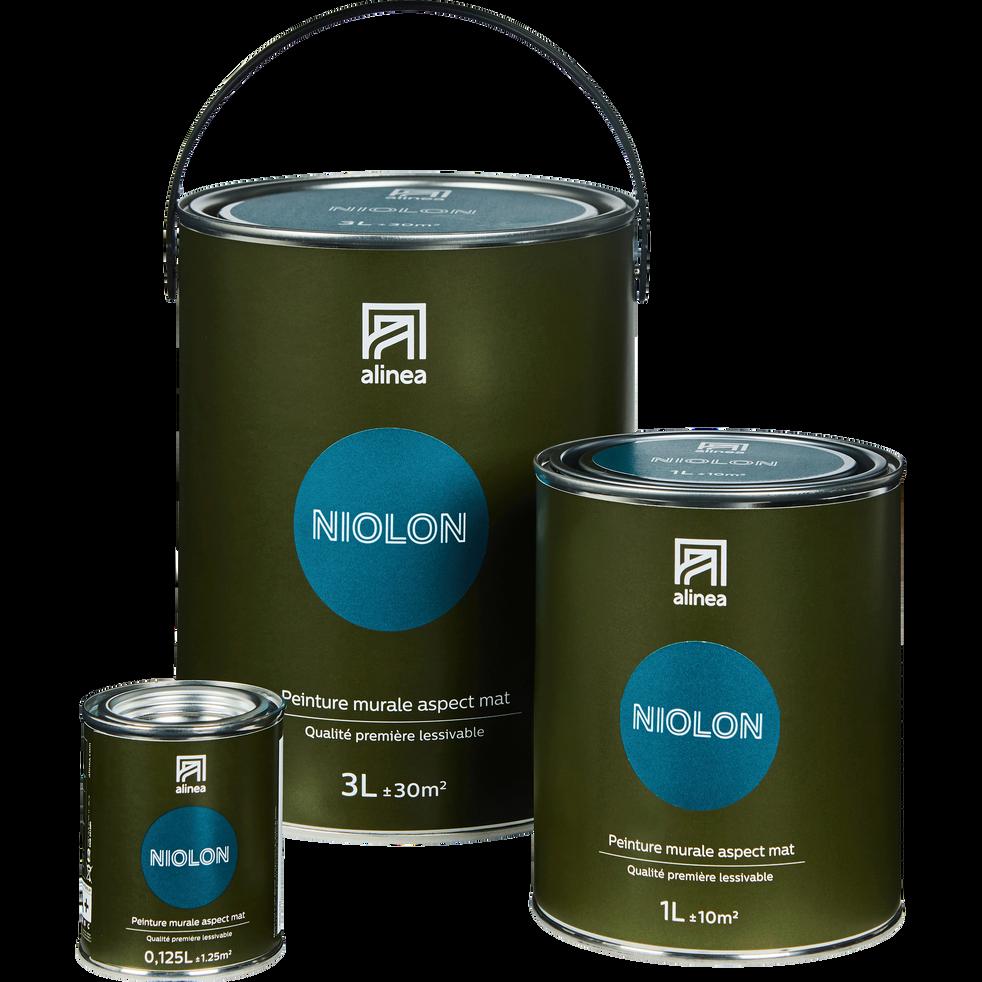 Peinture acrylique mate multi-supports 3L bleu niolon-PEINTURE