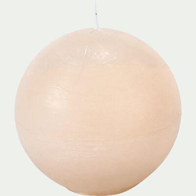 Bougie ronde beige roucas D8cm-BEJAIA
