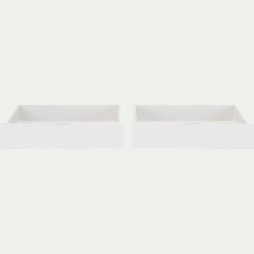 Lot de 2 tiroirs de lit à roulettes - blanc 61x200cm-NOA