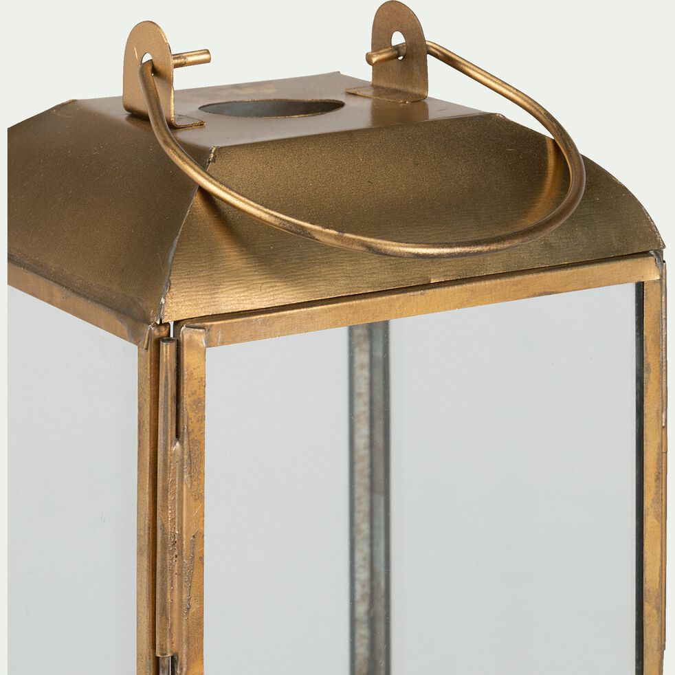 Lanterne en fer et verre - cuivré H18cm-ALSISAR