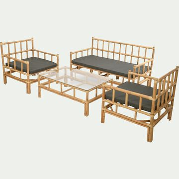 Salon de jardin en rotin (4 places)-BALI