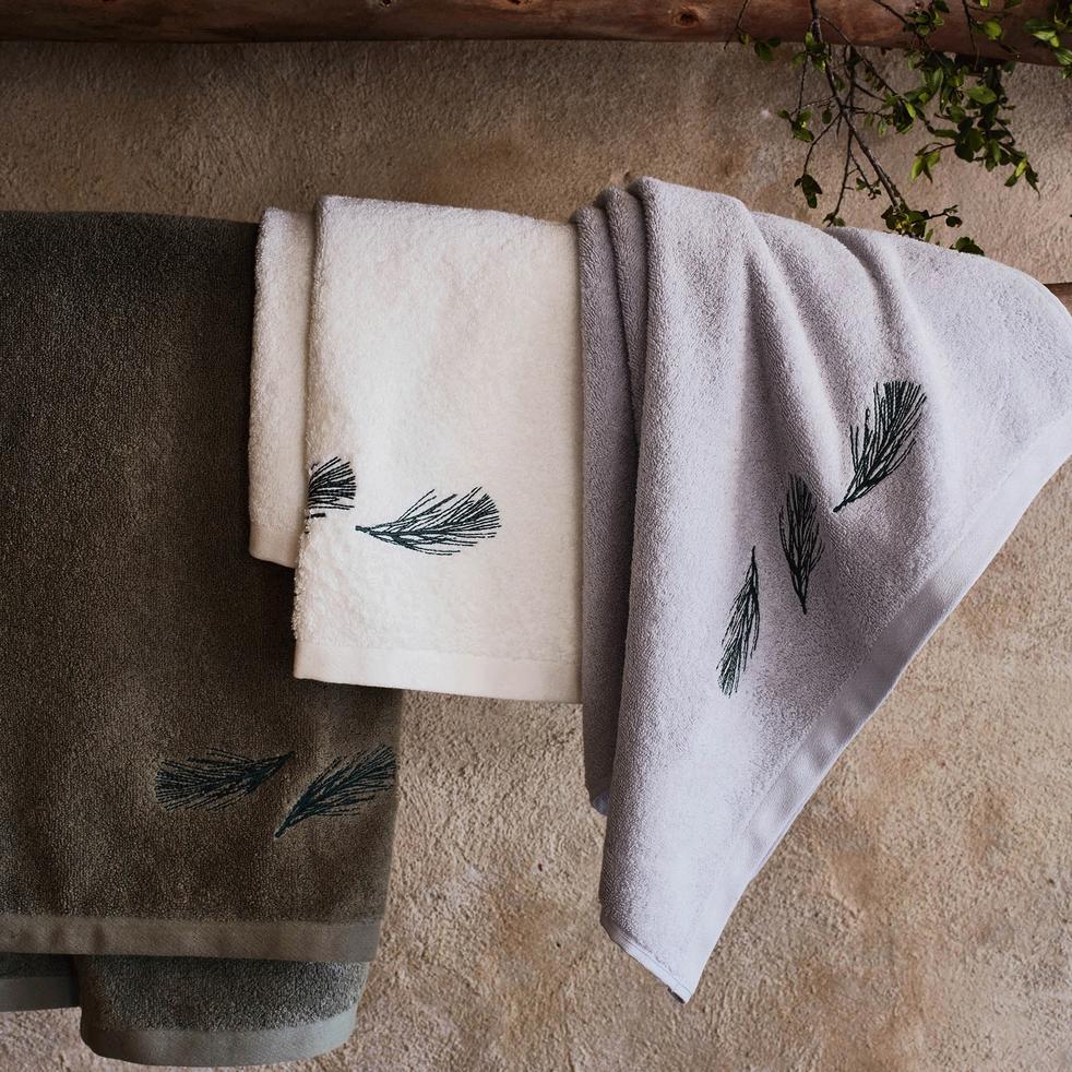 Serviette de bain 50x90cm gris borie-AMBIN