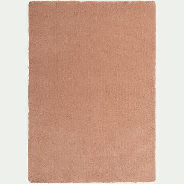 Tapis shaggy - rose argile 120x170cm-CELAN