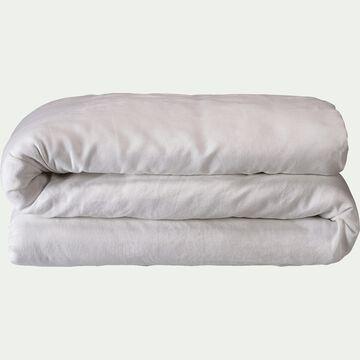 Housse de couette en lin - blanc capelan 260x240cm-VENCE