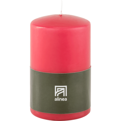 Bougie cylindre rouge arbouse-HALBA