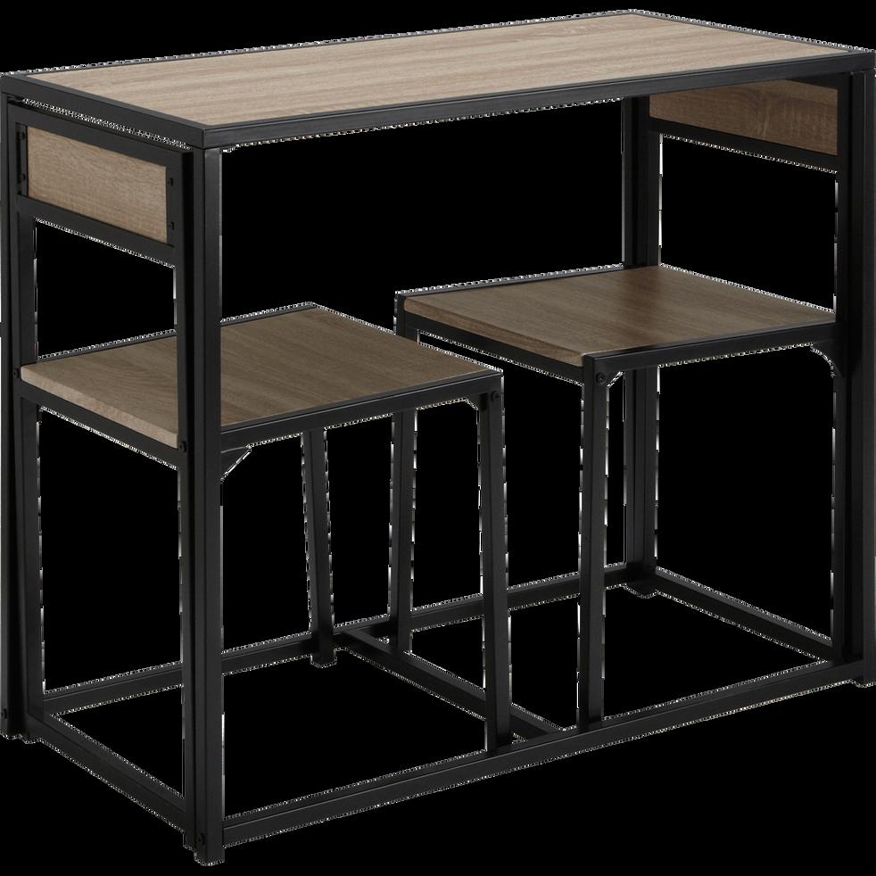 set d 39 une table avec 2 chaises bertille 90x45cm. Black Bedroom Furniture Sets. Home Design Ideas