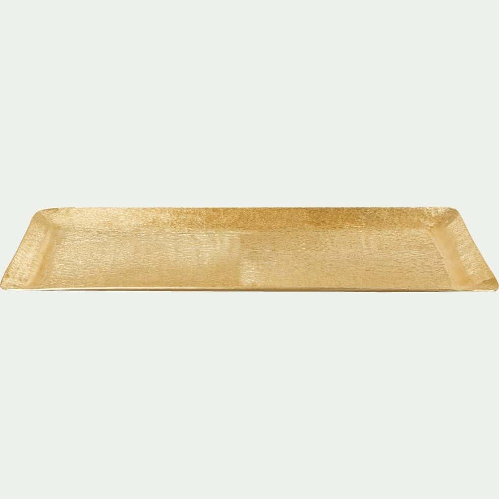 Plateau en aluminium martelé - doré 18,5x50cm-PANISSE