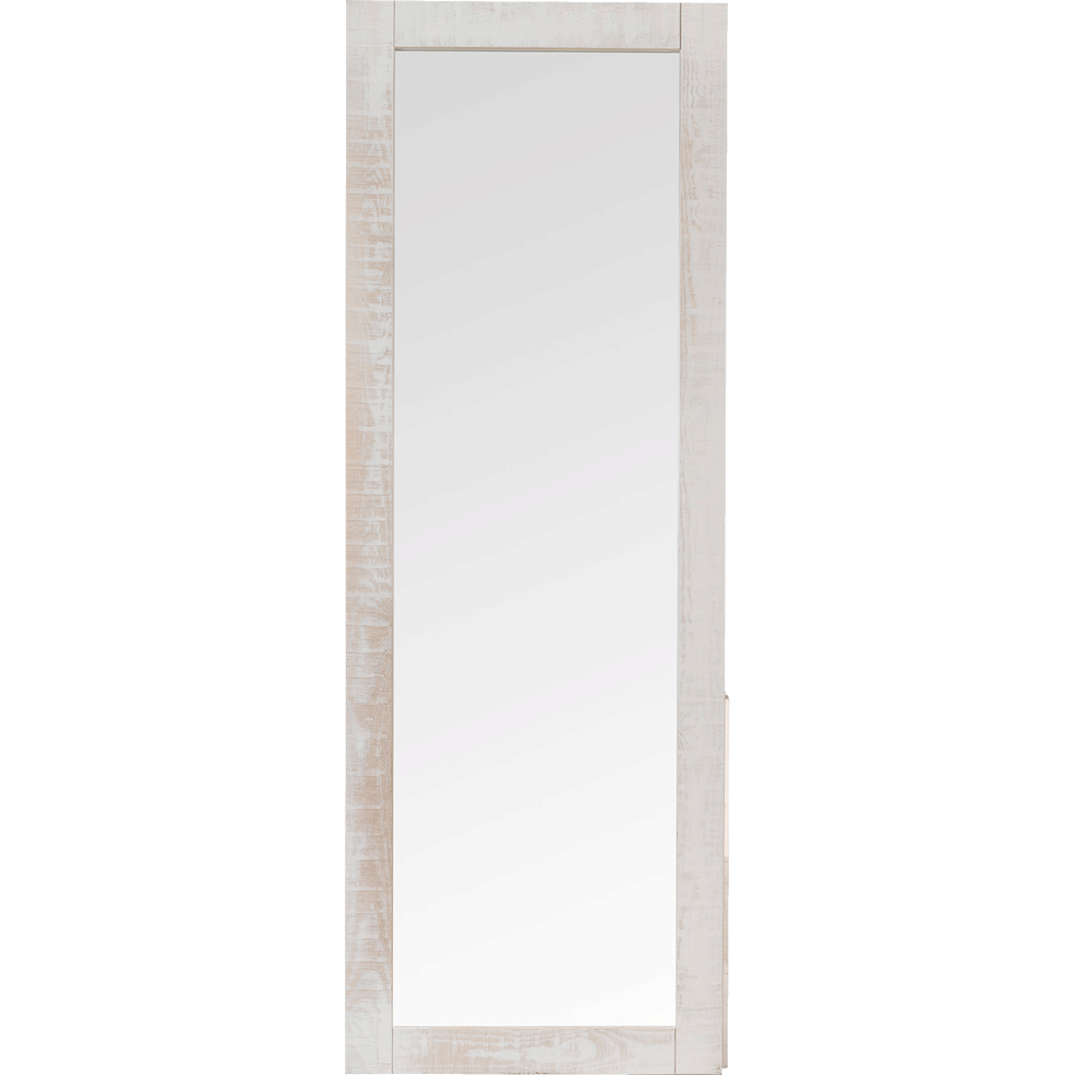 Miroir long rectangulaire en pin bross blanc jalousie d co alinea for Miroir en long
