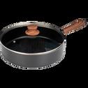 Sauteuse en aluminium noir D28cm (tous feux dont induction)-PADENA