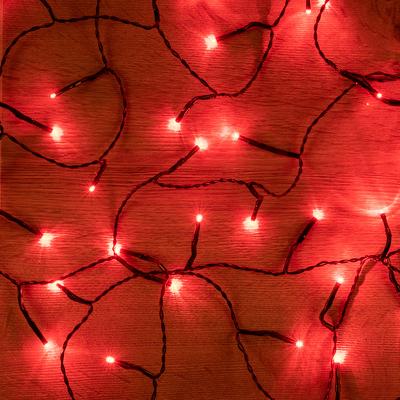guirlande lumineuse 13,5m - 180 led rouge-BASIC