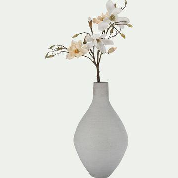 Vase en béton - D32xH60cm gris-CALCIS