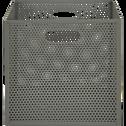 Caisse de rangement en métal vert cèdre L31xl31xH30cm-PIA