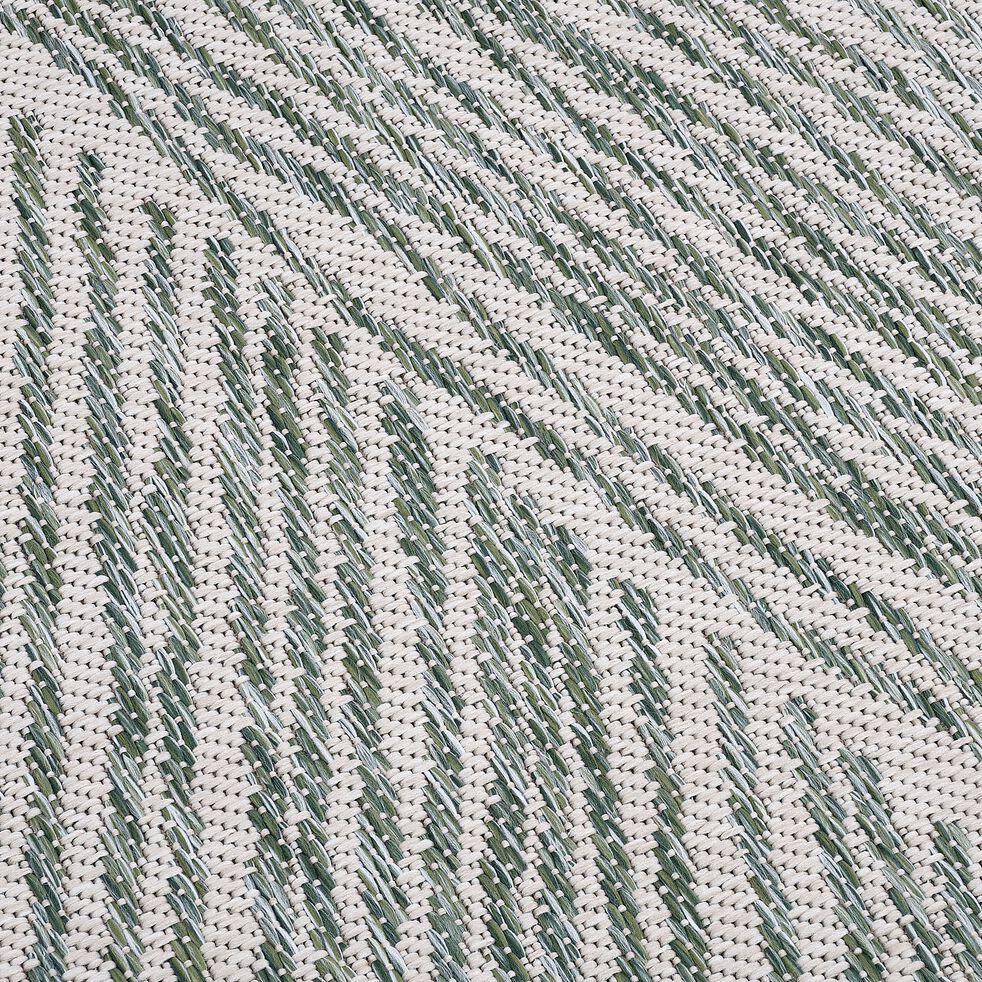 Tapis intérieur et extérieur - beige et vert 120x170cm-MIGO