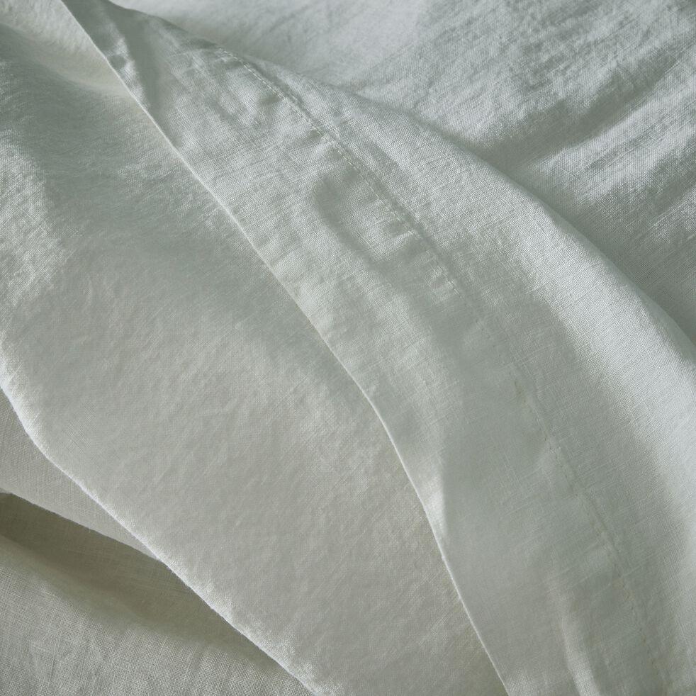 Drap plat en lin - blanc capelan 270x300cm-VENCE