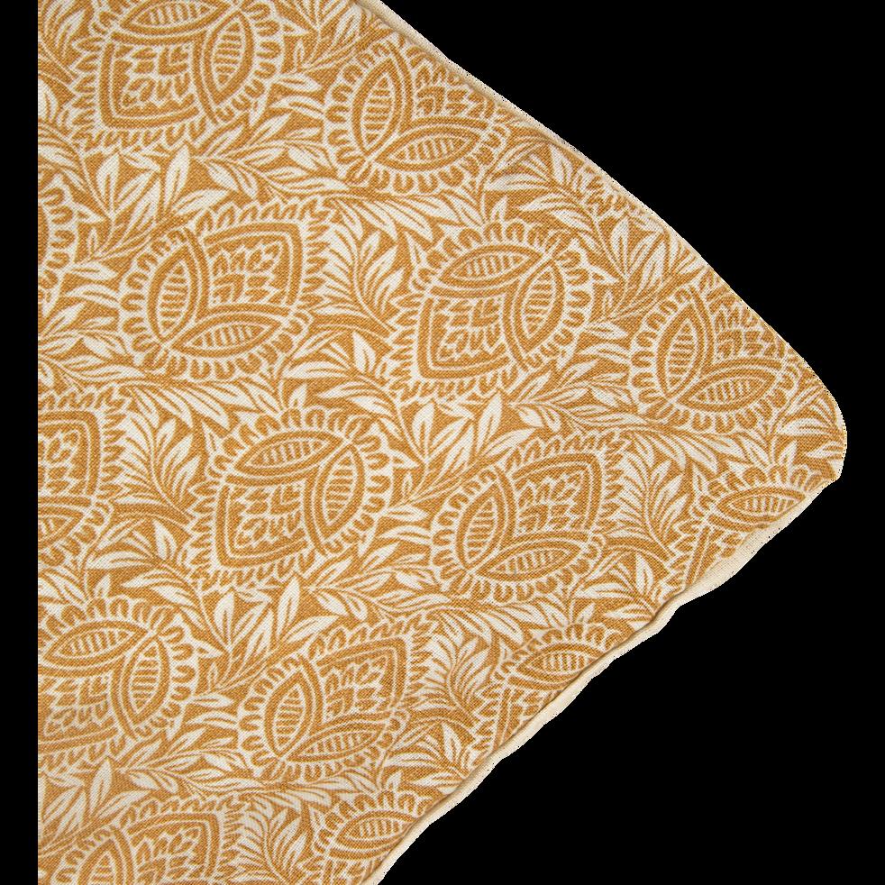 Housse de couette en lin 240x220cm motif amande - jaune-GOYA