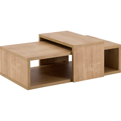 Table basse modulable rectangulaire coloris chêne-MADERA