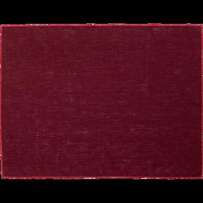 Set de table en lin et coton rouge sumac 36x48cm-MILA