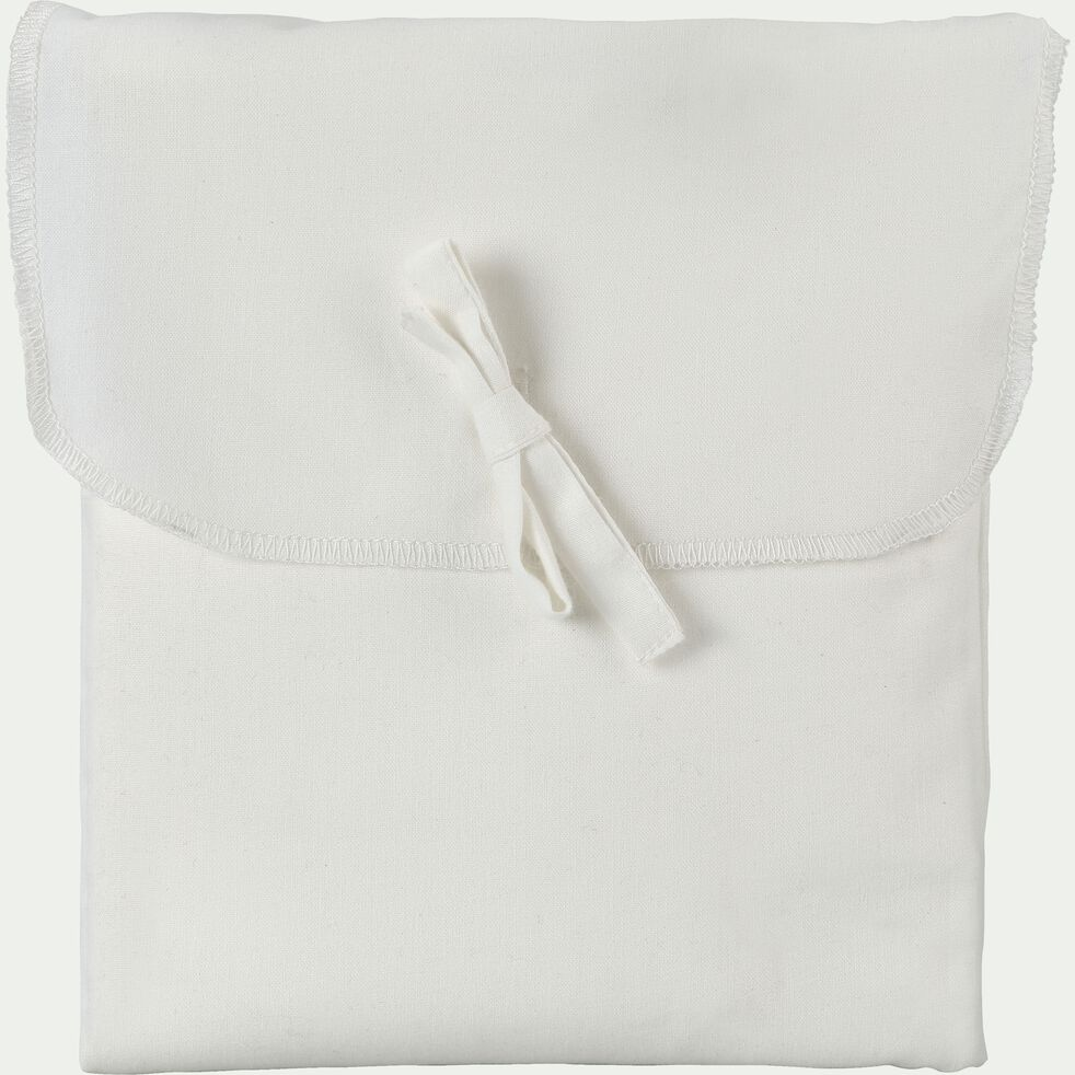 Taie de traversin en coton - blanc capelan 43x125cm-CALANQUES