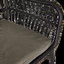 Fauteuil pour extérieur en aluminium finition époxy et tissage en rotin synthétique-IBIZA