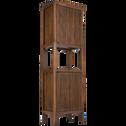 Colonne 2 portes en acacia 56x35x180cm-LOUVANS