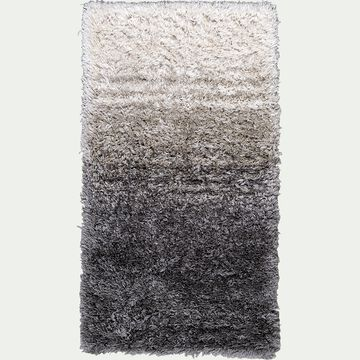 Tapis dégradé imitation fourrure - gris 60x110cm-mala